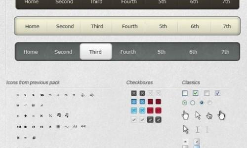 Сборник PSD элементов пользовательского интерфейса веб-дизайна