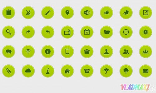 Зеленые иконки / GreenIconNice от Vladmaxi.net