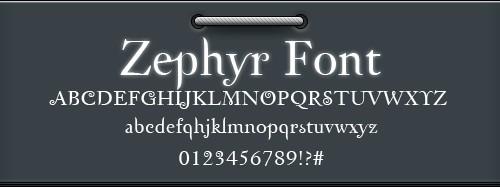 zephyr скачать эффектный шрифт
