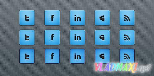 социальные иконки psd для вебмастера