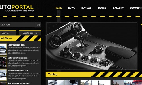 html&css автомобильный шаблон сайта