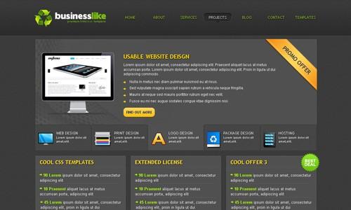 бизнес шаблон html, скачать шаблон сайта css