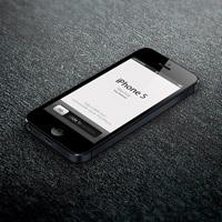 макет iphone 5 psd с темным фоном