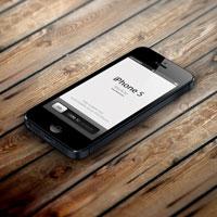 макет iphone 5 psd формата