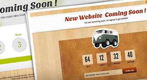 Дизайн страницы Сайт в разработке в 2-х вариантах