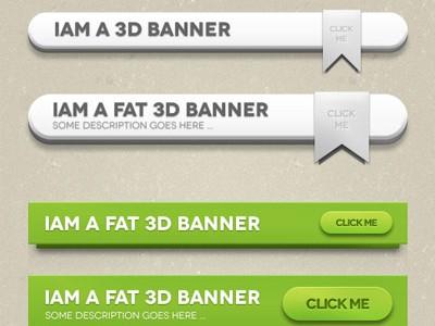 psd баннеры в стиле 3D скачать бесплатно