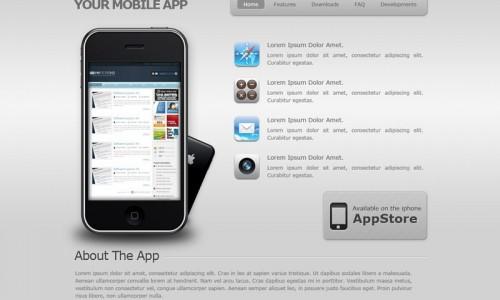 psd дизайн сайта app store