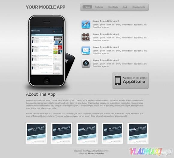 psd макет сайта apple