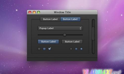 psd apple интерфейс, скачать набор элементов дизайна макет