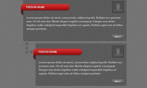 psd комментарии, система комментирования на сайте дизайн
