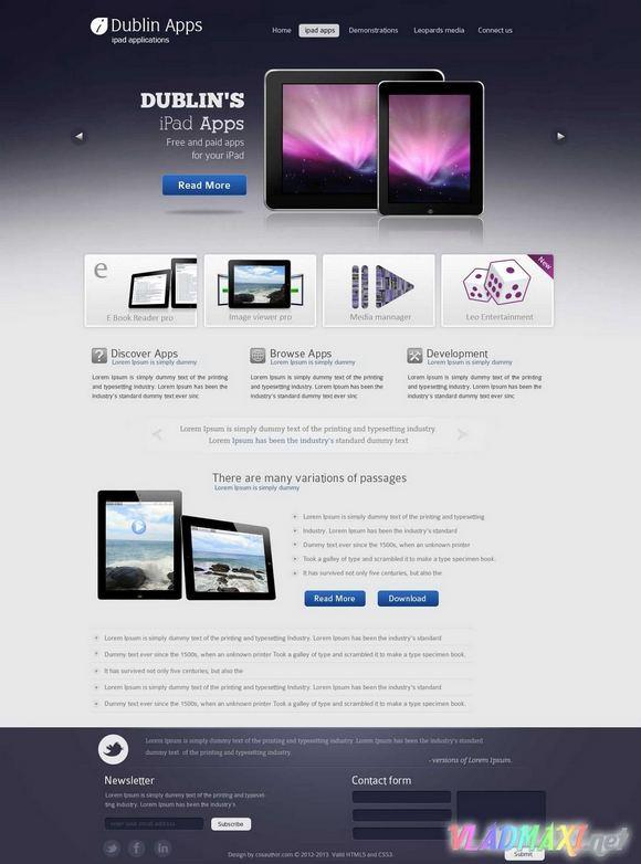 шаблон сайта в формате фотошопа скачать бесплатно