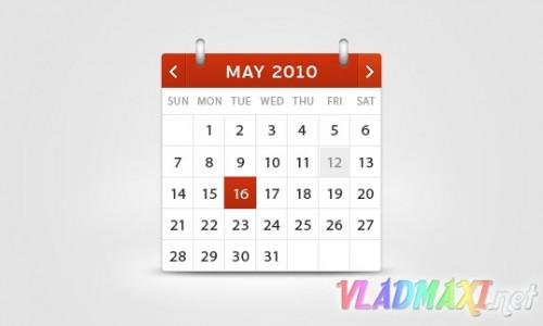 календарь, шаблон psd скачать бесплатно