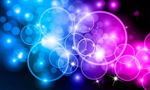 абстрактный фон вектор, в сочетании розового и голубого цветов, Розово-голубой абстрактный фон Bokeh Circles скачать
