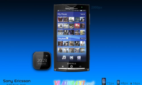 телефон psd Sony Ericsson Xperia X10