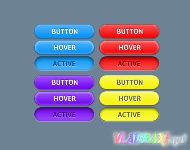 красивые анимированные кнопки psd