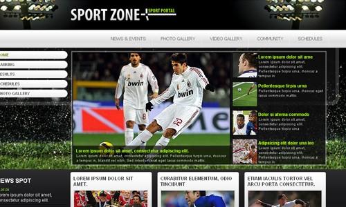 шаблон спорт сайта