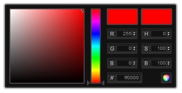 color picker, цветовая палитра цветов