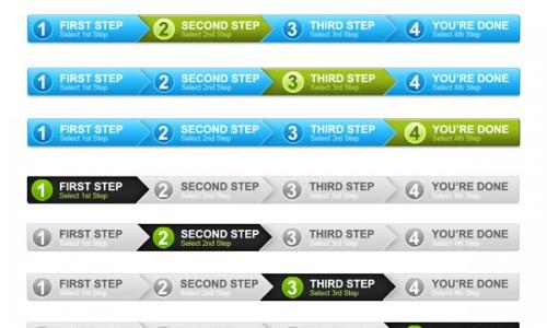 дизайн прогресс панели для сайта