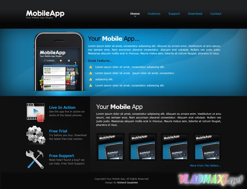 Дизайн для сайта psd