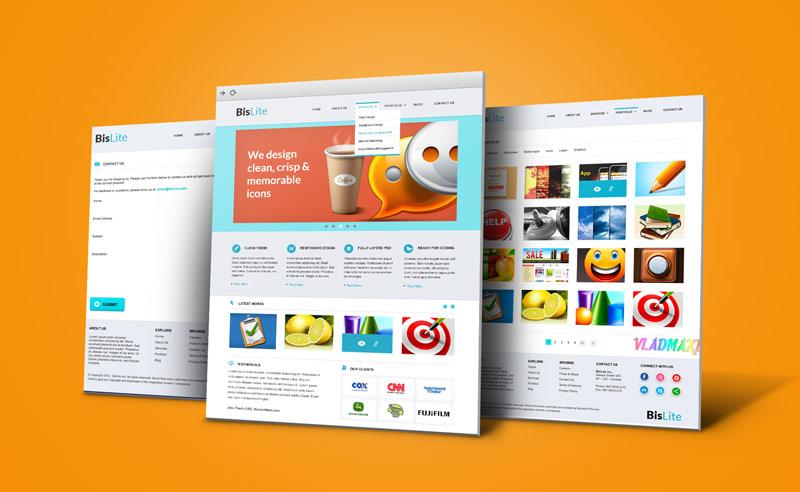 Web дизайн в фотошопе