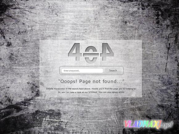 стиль для страницы ошибки на сайте