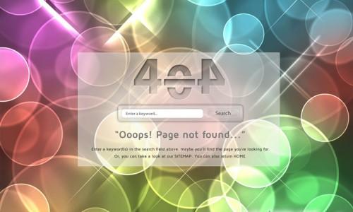 красивый шаблон 404 страницы ошибки для сайта