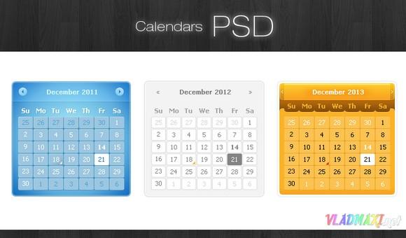 красивый календарь в фотошопе