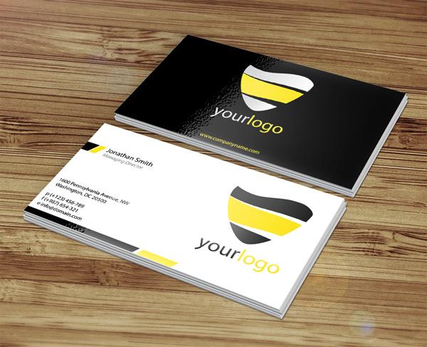чёрная и белая визитка