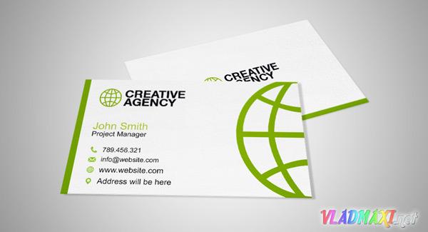 визитка бесплатно для информационного агенства