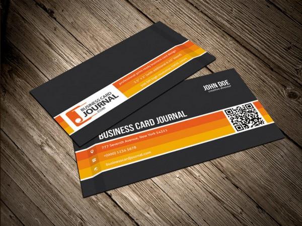 оранжевый стиль визитки